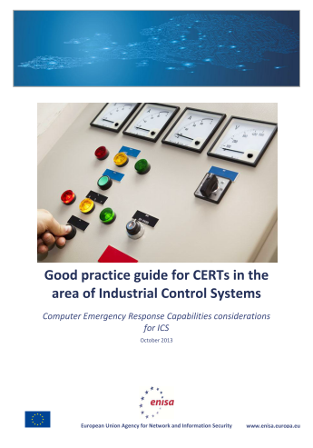 2013 Dec ENISA - CERT considerations for ICS