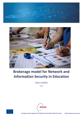2014 Feb ENISA - Brokerage model for NIS in Education