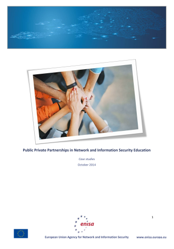 2014 Oct ENISA - PPPs and their role in NIS Education