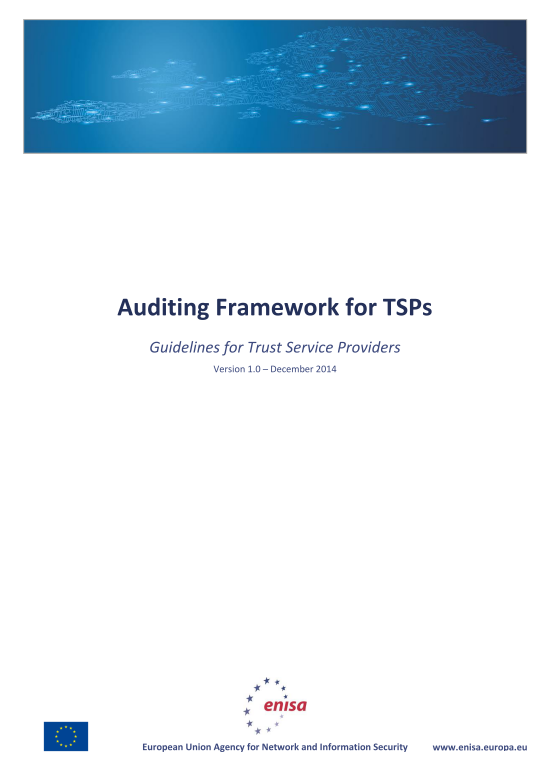 2015 Apr ENISA - Auditing framework for Trust Service Providers-TSP