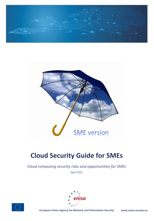 2015 Apr ENISA - Cloud Security Guide for SMEs