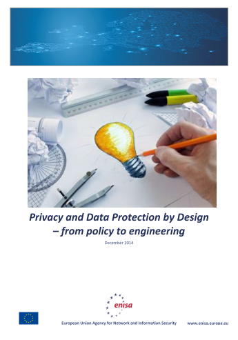 2015 Jan ENISA - Privacy and Data Protection by Design