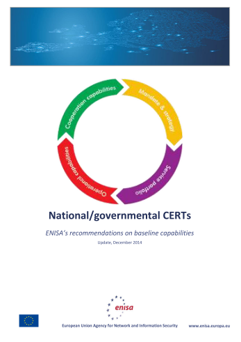 2015 Mar ENISA - National-governmental CERTs