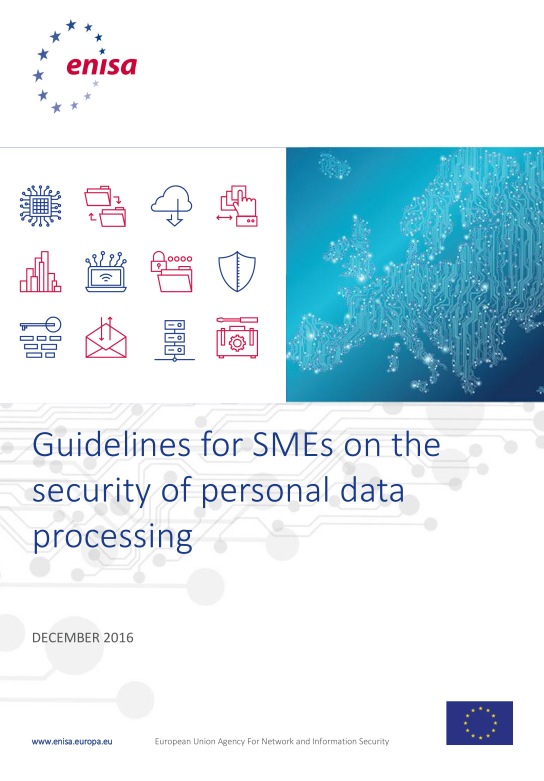 2016 Dec ENISA - Guidelines for SMEs on the security of personal data processing