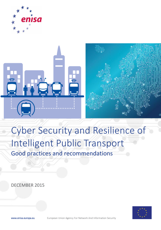 2016 Jan ENISA - Cyber Security and Resilience of Intelligent Public Transport