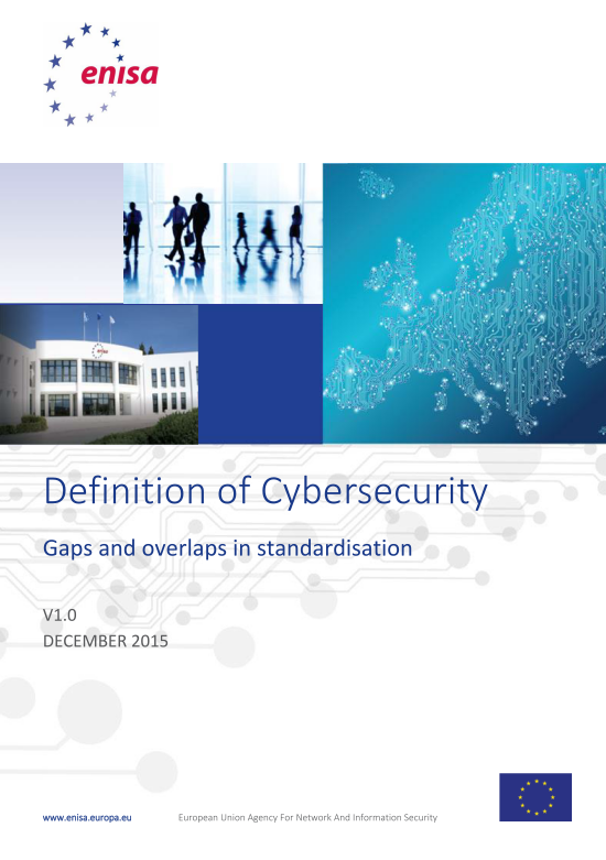 2016 July ENISA - Cybersecurity_Definition_Gaps_v1_0