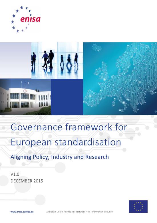 2016 July ENISA - Governance_Framework_v1_0