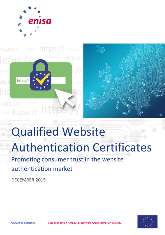 2016 May ENISA - Qualified Website Authentication Certificates