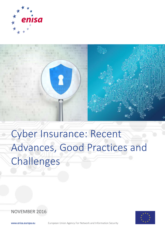 2016 Nov ENISA - Cyber-Insurance-Advantages, Good Practices and Challenges