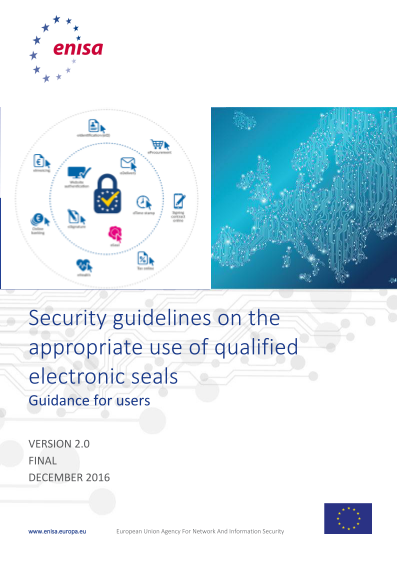 2017 Jun ENISA - Security Guidelines - Electronic Seals