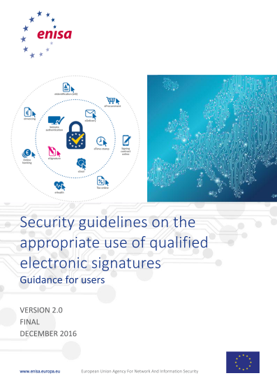 2017 Jun ENISA - Security Guidelines - Electronic Signatures
