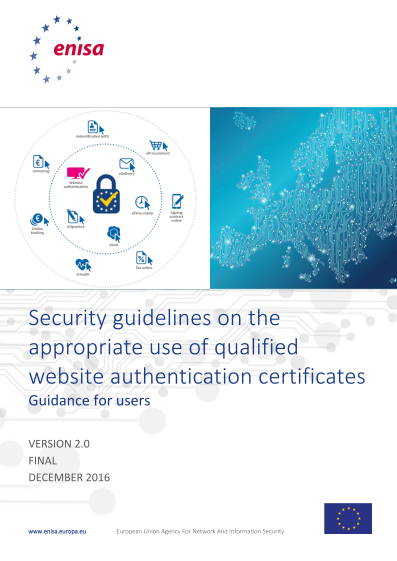 2017 Jun ENISA - Security Guidelines - Website Authentication Certificates