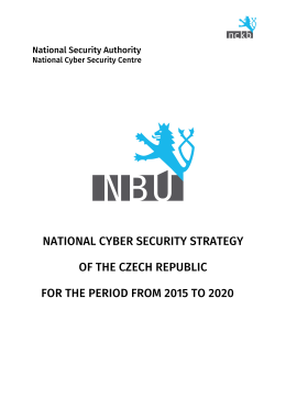 Cyber Security Strategy-Chezh Republic 2011-2015