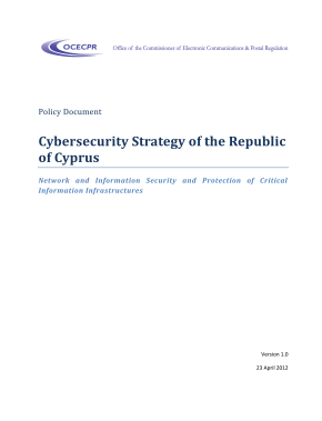 Cyber Security Strategy-Cyprus 2013