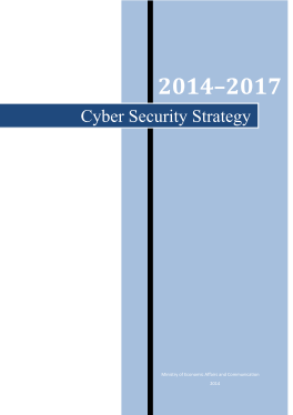 Cyber Security Strategy-Estonia 2014-2017