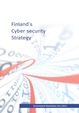 Cyber Security Strategy-Finland 2013