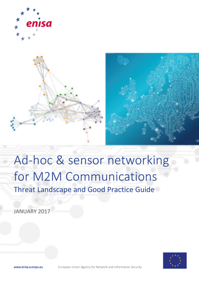ENISA-Ad-hoc and sensor networking for M2M communications Threat Landscape and good practice guide