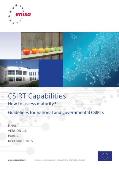 ENISA-CSIRT Capabilities - Howto Assess MAturity