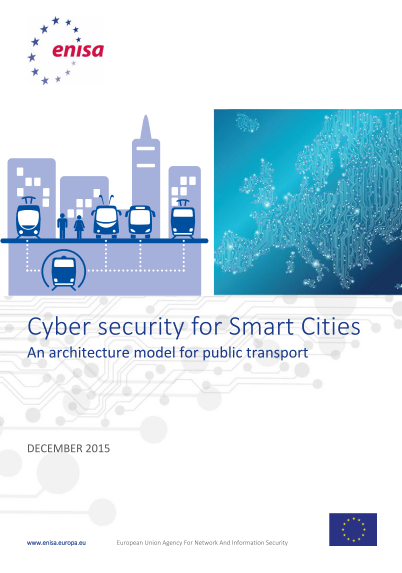 ENISA-Cyber Security for Smart Cities - an Architecture Model for Public Transport