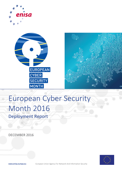 ENISA-European Cyber Security Month- Deployment Report