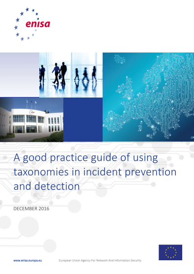 ENISA-Good Practice of using taxonomies in Incident prevention and detection