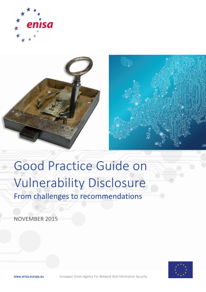 ENISA-Good practice guide on vulnerability disclosure