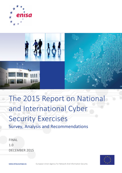ENISA-National and International Cyber Security Exercises-2015