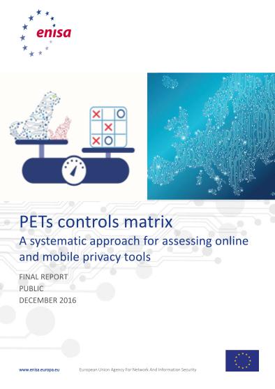 ENISA-PETs control matrix