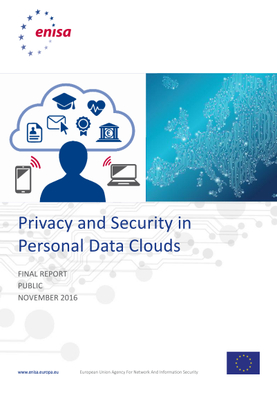 ENISA-Privacy and Security in Personal Data Clouds