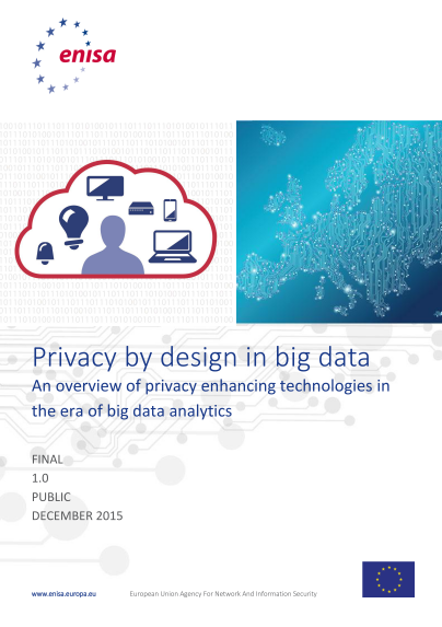 ENISA-Privacy by design in Big Data