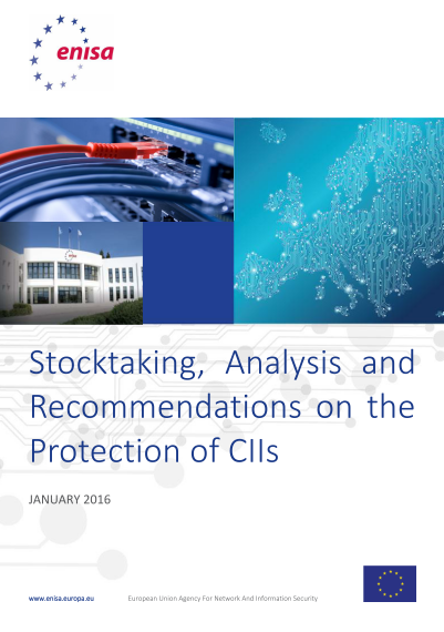 ENISA-Stocktaking- Analysis and Recommendations on the protection of CIIs