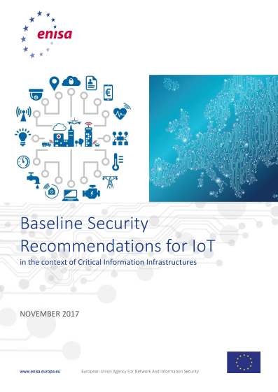 2017 Nov ENISA - Baseline Security Recommendations for IoT