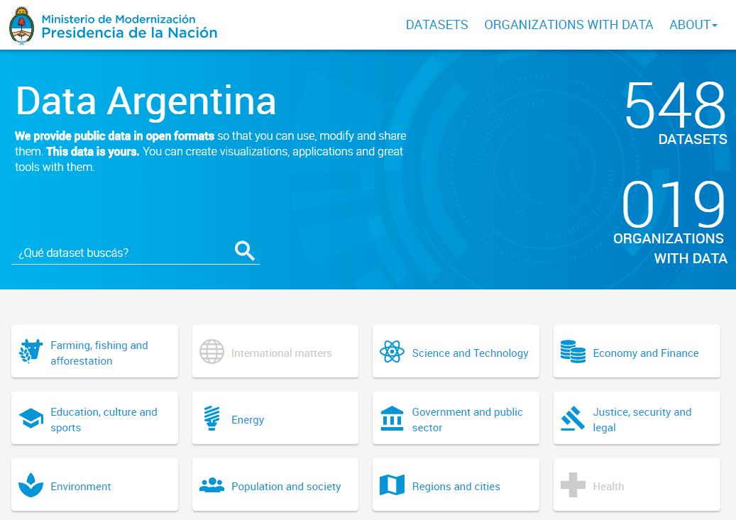 Argentina Open Data Portal