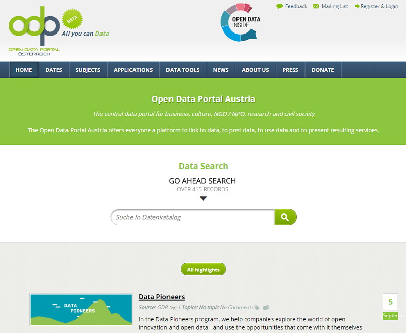 Austria Open Data Portal
