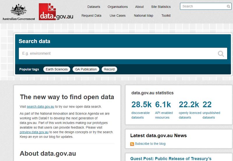 Australia Open Data Portal