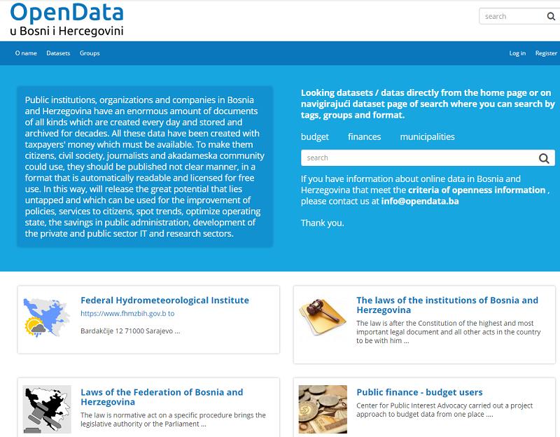 Bosnia And Herzegovina Open Data Portal