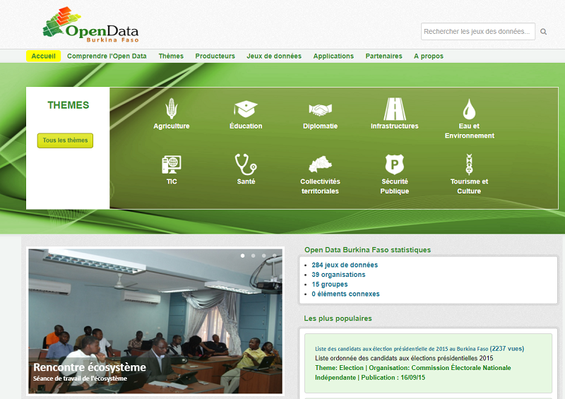 Burkina Faso Open Data Portal