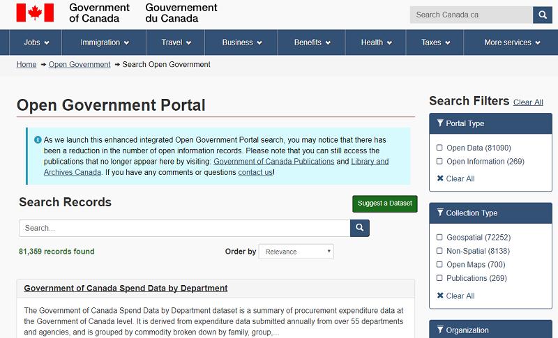 Canada Open Data Portal