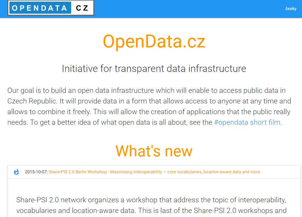 Czech Republic Open Data Portal