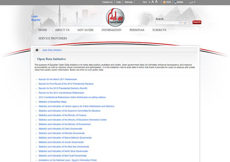 Egypt Open Data Portal