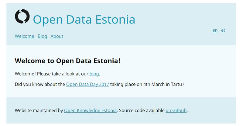 Estonia Open Data Portal