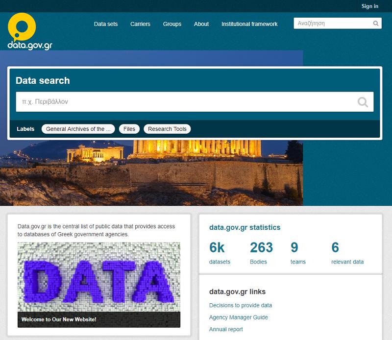 Greece Open Data Portal