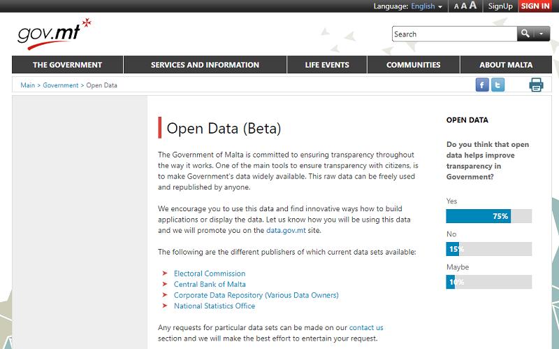 Malta Open Data Portal