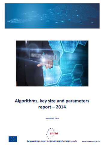 2014 Nov ENISA - Algorithms, key size and Parameters