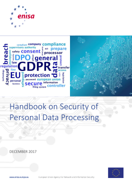 2018 Jan ENISA-Handbook on Security of Personal Data Processing