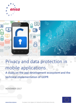 2018 Jan ENISA-Privacy and data protection in mobile applications