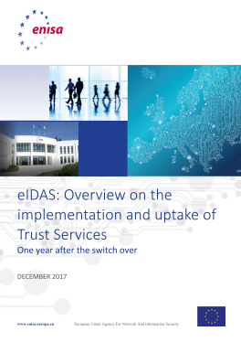 2018 Jan ENISA - eIDAS Overview on the implementation and uptake of Trust Services2