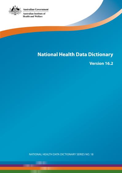 data-dictionary-Australian National Health