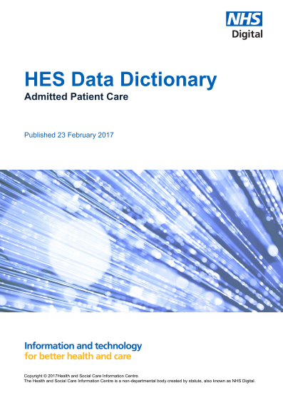 data-dictionary-HES Admitted Patient Care
