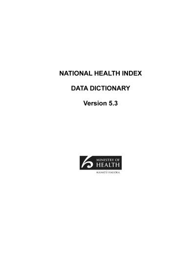 data-dictionary-New Zealand National Health Index